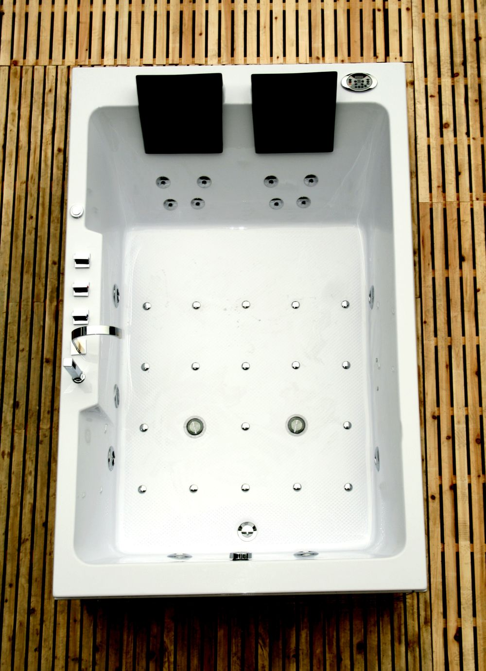 whirlpool badewanne 185x120 eckbadewanne vollausstattung mod 42 ebay. Black Bedroom Furniture Sets. Home Design Ideas