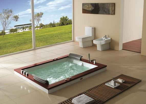 whirlpool badewanne 180x150 luft wasser heizung 666 ebay. Black Bedroom Furniture Sets. Home Design Ideas